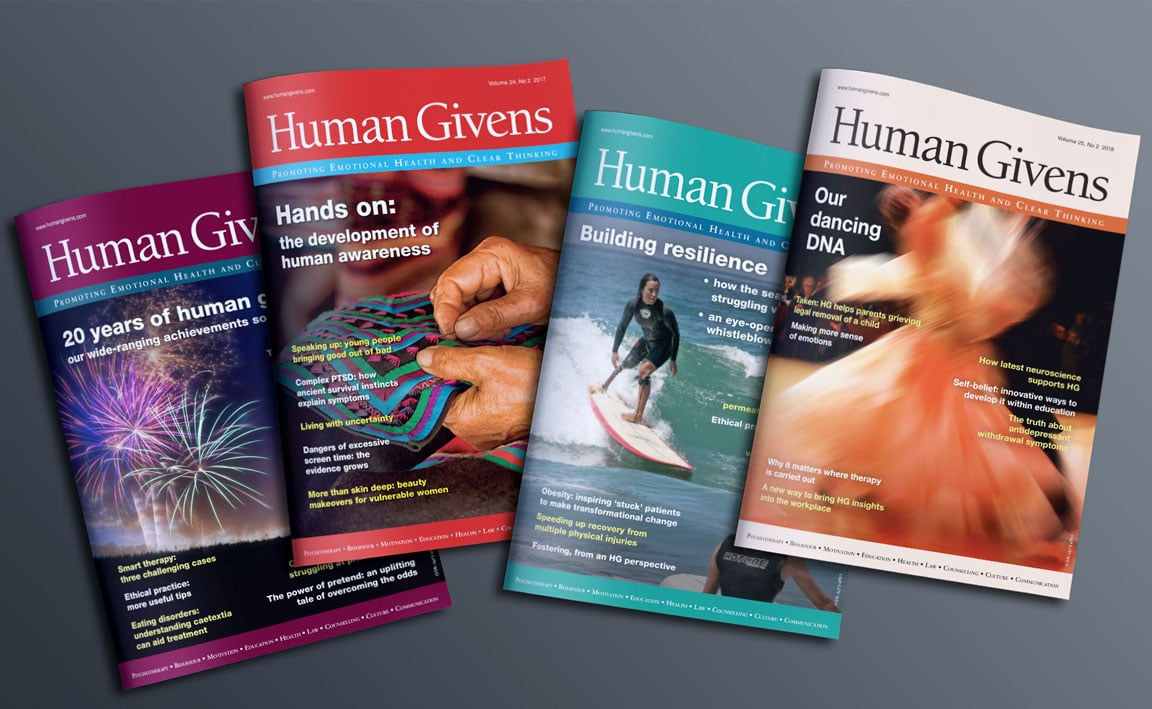 Spread of Human Givens Journals