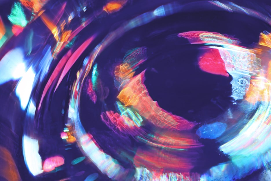 colourful painting of an eye - chronic anxiety