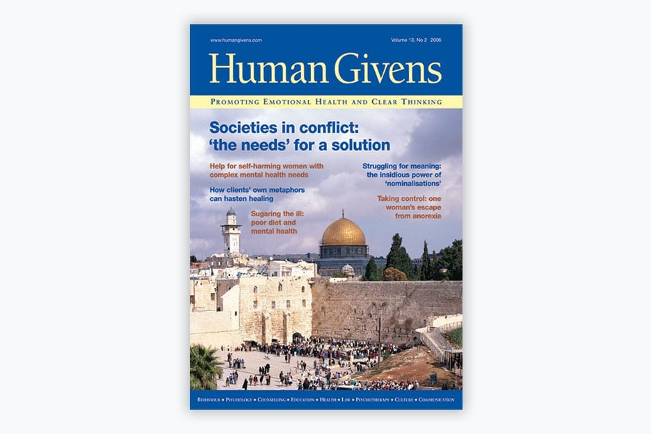 Human Givens Journal - Volume 13, No 2