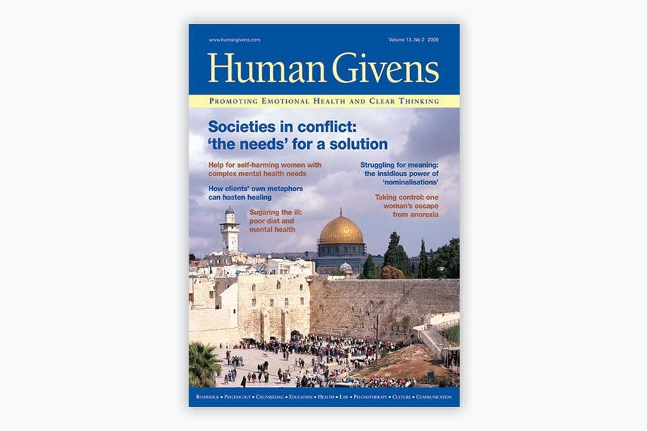 Human Givens Journal - Volume 13, No 2