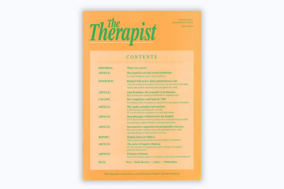 The Therapist - Volume 4, No 2, 1997