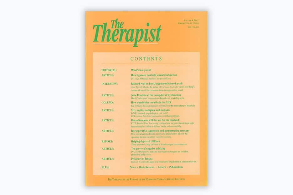 The Therapist - Volume 4, No 2, 1997