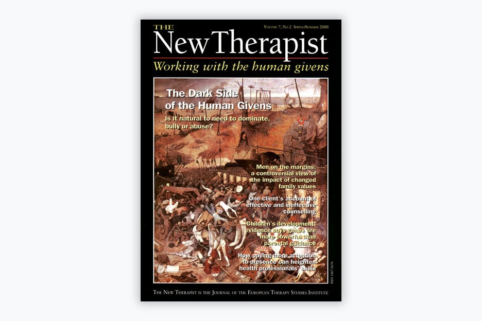 The New Therapist - Volume 7, No 2, 2000