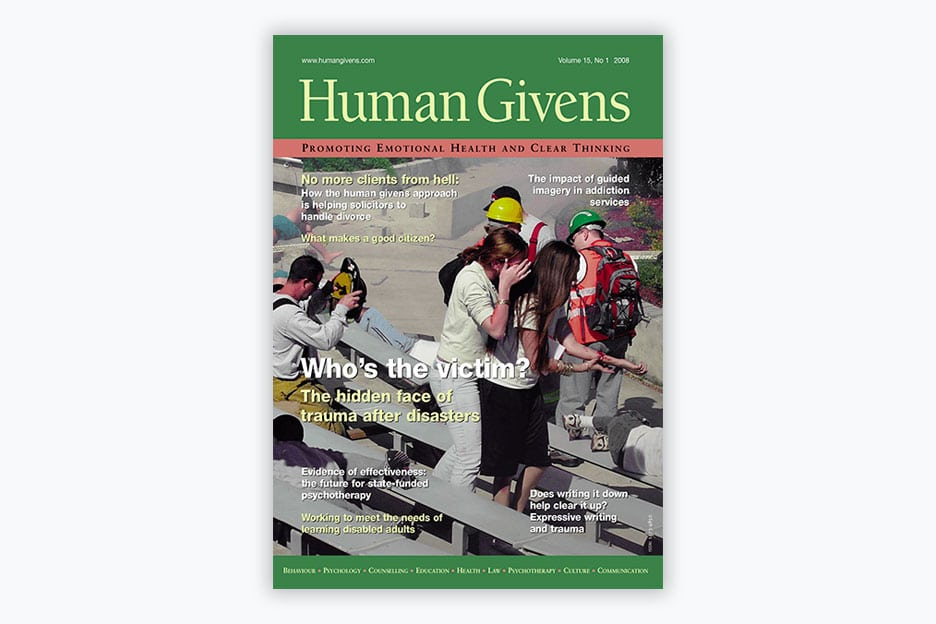 Human Givens Journal - Volume 15, No 1