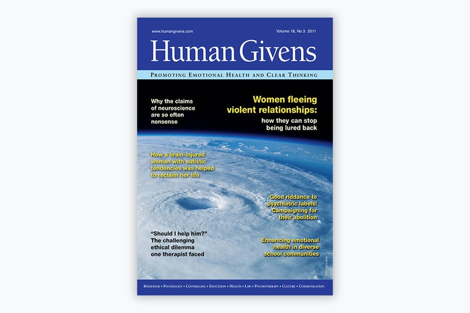 Human Givens Journal - Volume 18, No 3, 2011