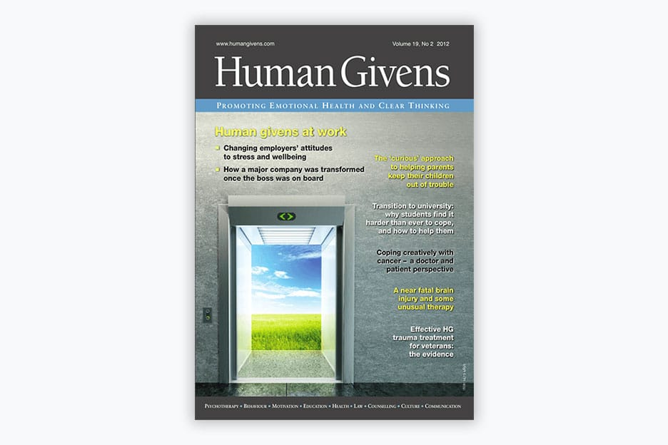 Human Givens Journal - Volume 19, No 2, 2012