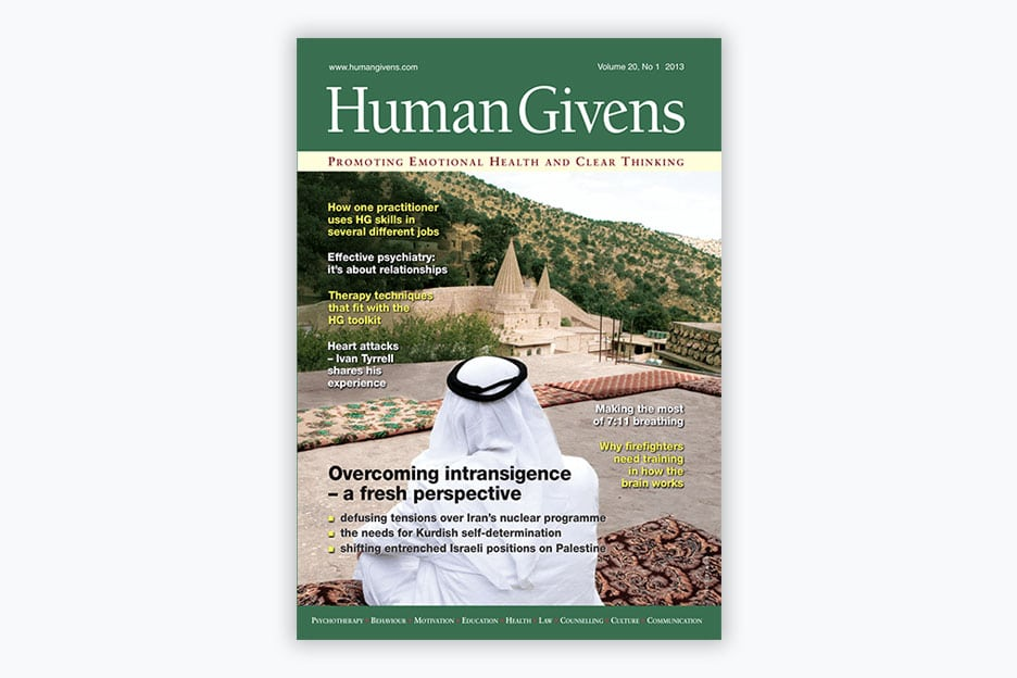 Human Givens Journal - Volume 20, No 1, 2013