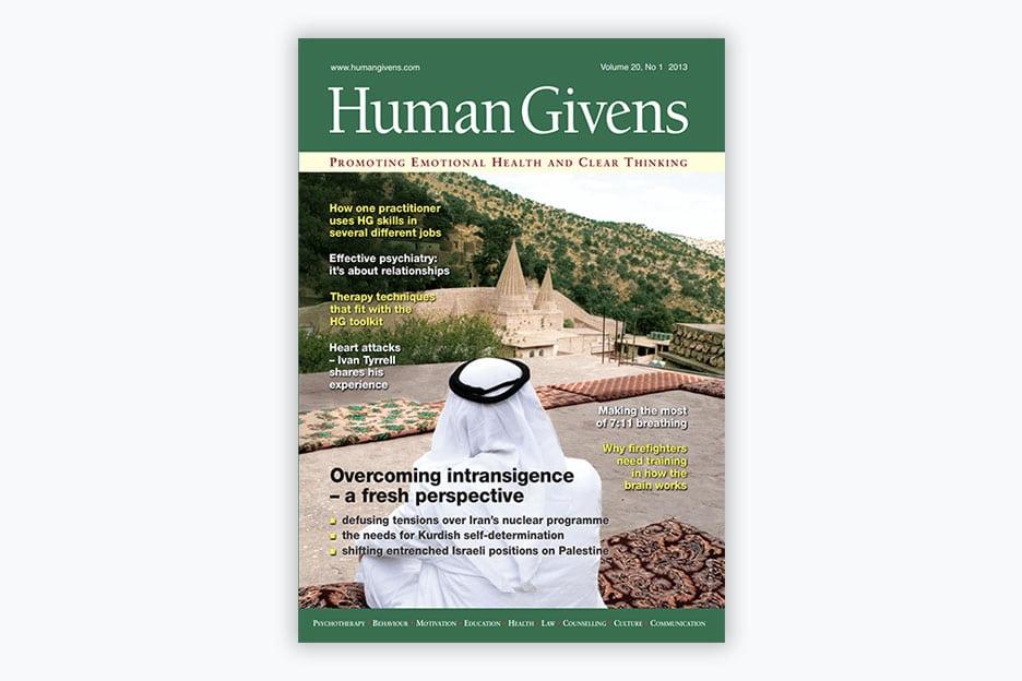 Human Givens Journal - Volume 20, No 1, 2013
