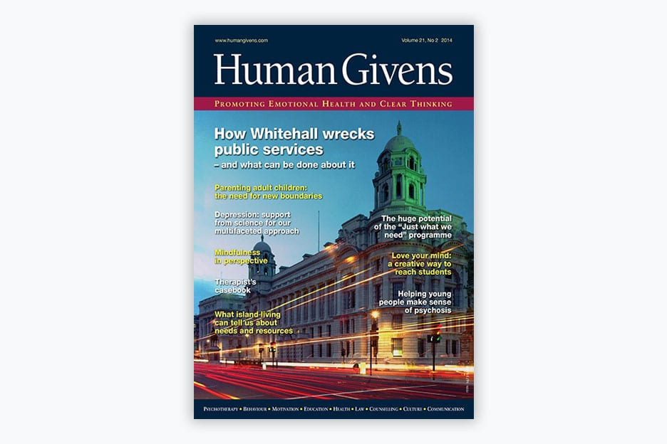 Human Givens Journal - Volume 21, No 2, 2014
