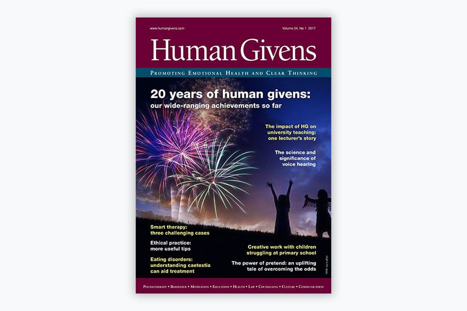 Human Givens Journal - Volume 24, No 1, 2017