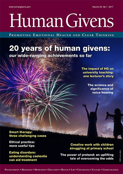 Human Givens Journal - Volume 24, No 1, 2017