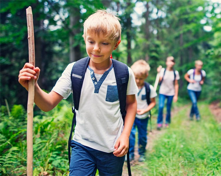 Troubled young minds - Children hiking