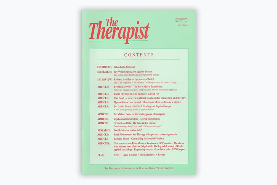 The Therapist - Volume 1, No 4 (1994)