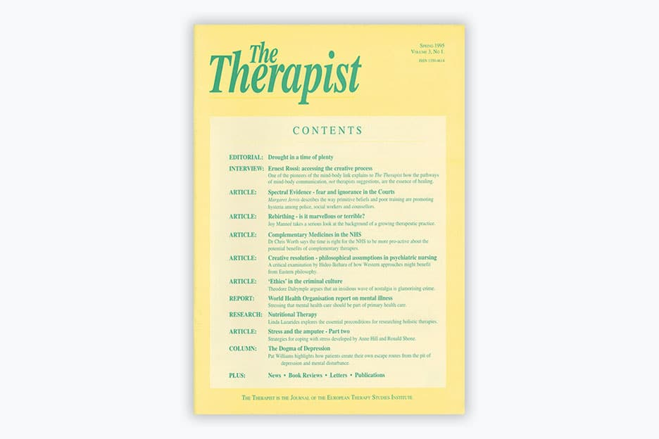 The Therapist - Volume 3, No 1 (1995)