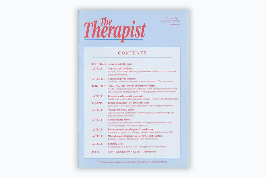 The Therapist - Volume 4, No 1 (1996)