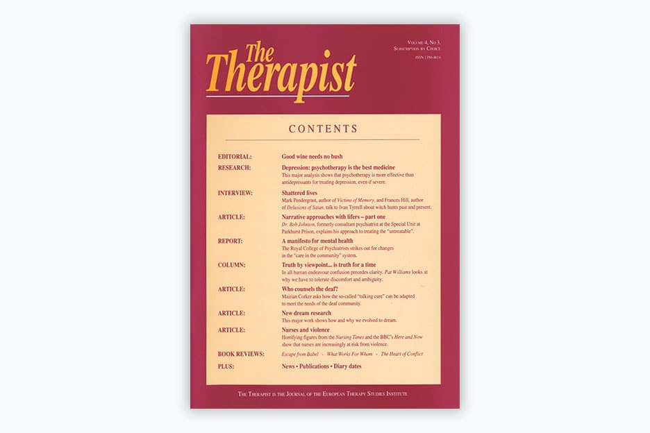 The Therapist - Volume 4, No 3 (1997)