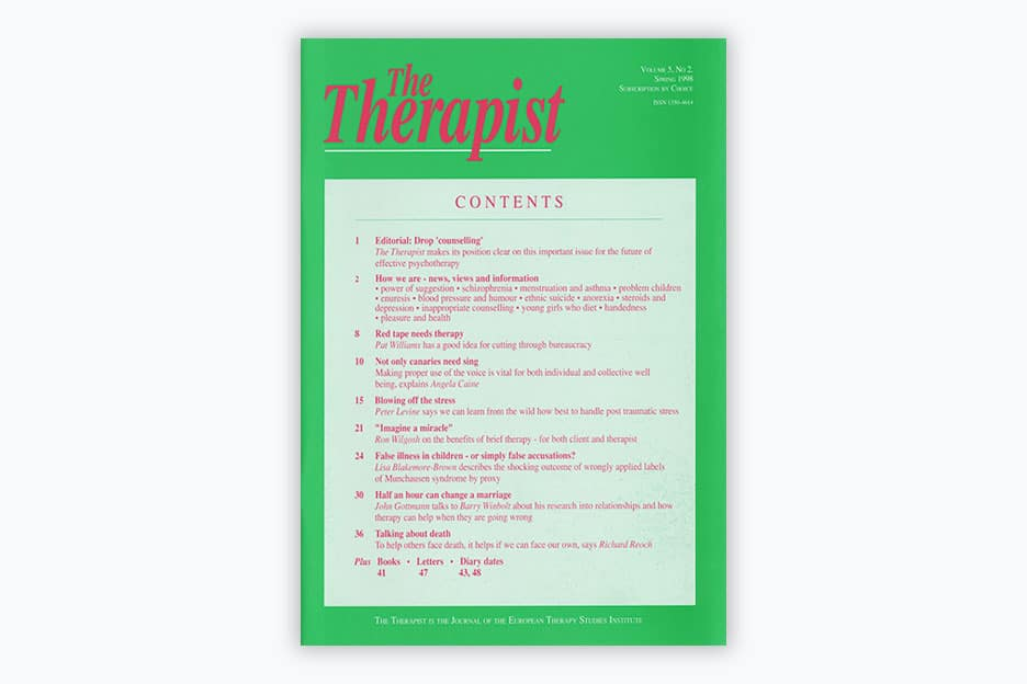 The Therapist - Volume 5, No 2 (1998)