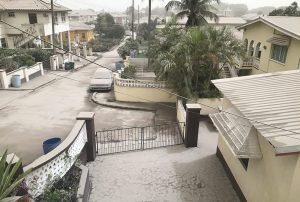 Volcanic ash in Barbados