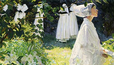 A Convent Garden in Brittany by William Leech