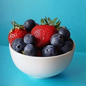 A bowl of summer fruits